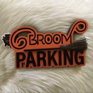 Target broom parking Halloween wall decor